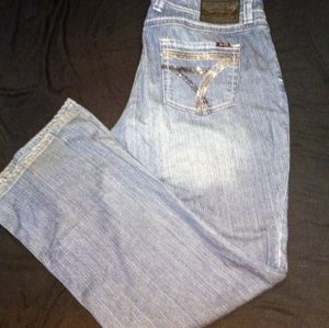 SEVEN PLUS SIZE BLING POCKET JEANS. size 18